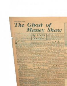 The Ghost of Massey Shaw ews article