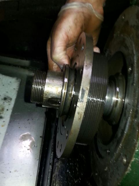 After-shaft-ballrace-housing-plate-being-removed