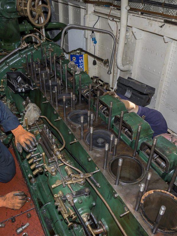 Massey Shaw engine repairs underway