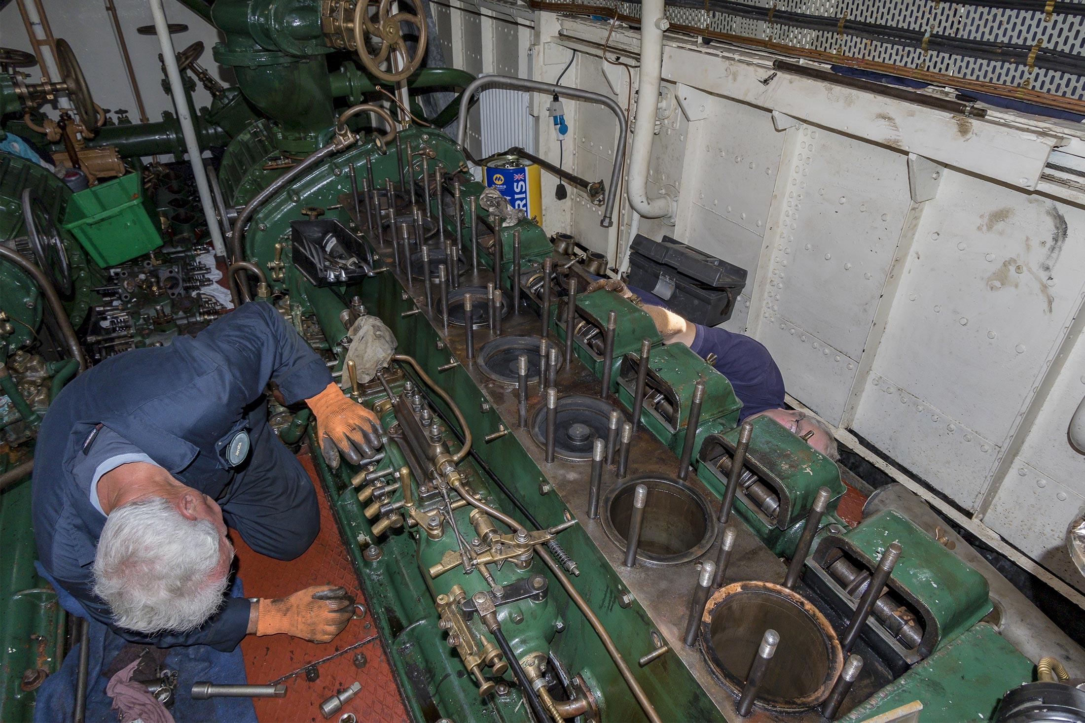 Massey Shaw engine repairs underway