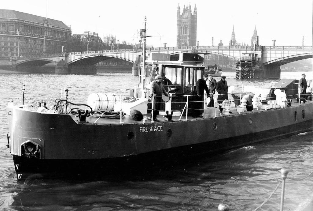 Fireboat Firebrace at Lambeth pier London